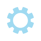 BLUE COG ICON